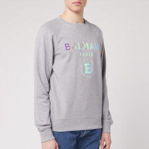Balmain Men's Hologram Balmain Sweatshirt - Grey