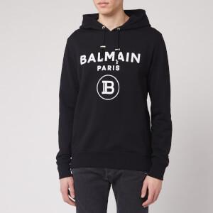 Balmain Men's Flock Balmain Hoody - Black/White