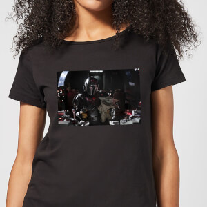 Camiseta The Mandalorian Pilot And Co Pilot - Mujer - Negro
