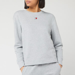 Tommy Sport Women's Open Back Tape Fleece Sweatshirt - Grey Heather