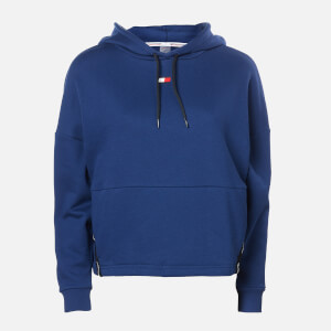 Tommy Sport Women's Cropped Fleece Tape Hoody - Blue Ink