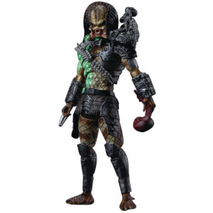 HIYA Toys Predator Battle Damage Jungle Predator Px 1/18 Scale Figure