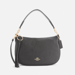 Coach Women's Polished Pebble Leather Sutton Cross Body Bag - Black