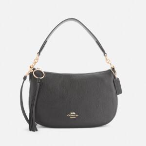 Coach Women's Polished Pebble Leather Sutton Cross Body Bag - Black