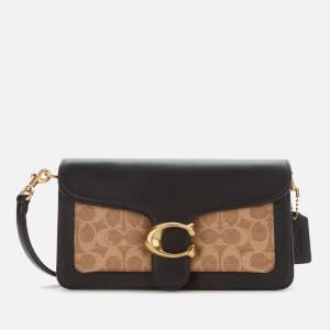 Coach Women's Signature Tabby Shoulder Bag 26 - Tan Black