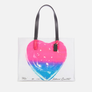 Coach 1941 Women's Coach X Richard Bernstein Heart Canvas Tote 42 - Pink Multi
