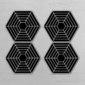 Web Hexagonal Coaster Set