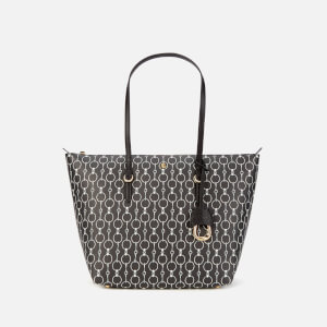 Lauren Ralph Lauren Women's Merrimack Tote Bag - Black Mini Chain Link