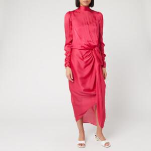 Zimmermann Women's Drape Long Sleeve Dress - Magenta