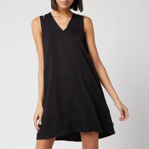 Calvin Klein Women's V-Neck Flared Dress - Black