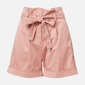Calvin Klein Women's Cotton Paper Bag Waisted Shorts - Pink