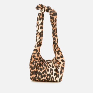 Ganni Women's Padded Tie Shoulder Mini Bag - Leopard