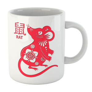 Embossed Chinese Rat Mug