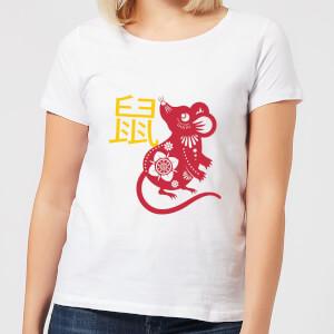 Chinese Zodiac Rat Women's T-Shirt - White