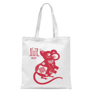 Year Of The Rat Tote Bag - White