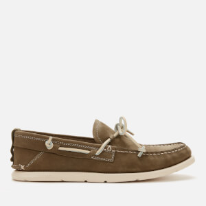 UGG Men's Beach Moc Slip-On Nubuck Boat Shoes - Moss Green