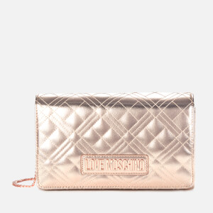 Love Moschino Women's Quilted Shoulder Bag - Copper