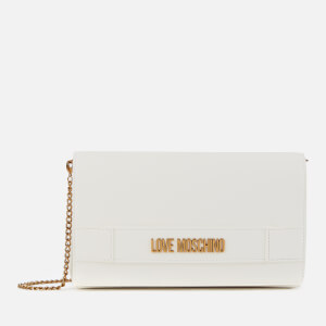 Love Moschino Women's Logo Chain Shoulder Bag - White