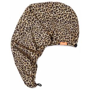 Aquis x Poosh Leopard Print Hair Turban