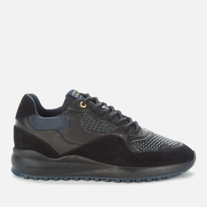 Android Homme Men's Santa Monica Gloss Stretch Woven Running Style Trainers - Black/Navy