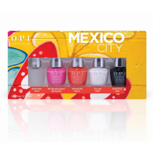 OPI Mexico City Limited Edition Infinite Shine Nail Polish 5 Pack Mini Gift Set
