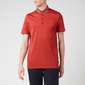Ted Baker Men's Teacups Striped Collar Polo Shirt - Dark Orange