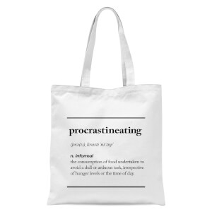 The Motivated Type Procrastineating Tote Bag - White