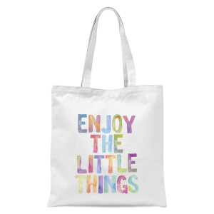 The Motivated Type Enjoy The Little Things Tote Bag - White