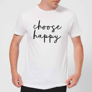 The Motivated Type Choose Happy Men's T-Shirt - White