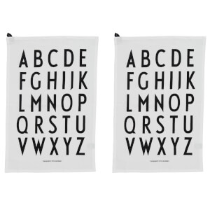 Design Letters Classic Tea Towel - Grey (2 Pack)