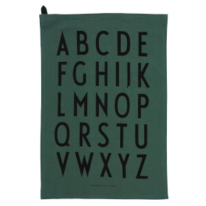 Design Letters Classic Tea Towel - Dark Green (2 Pack)