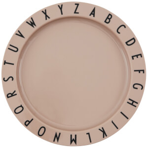 Design Letters Eat & Learn Tritan Deep Plate - Nude