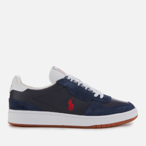 Polo Ralph Lauren Men's Polo Court Leather/Suede Trainers - Navy/Red