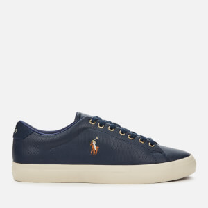 Polo Ralph Lauren Men's Longwood Perforated Leather Low Top Trainers - Newport Navy