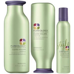 Pureology Clean Volume Trio - Fine, Natural Hair
