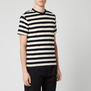 Officine Generale Men's Stripe T-Shirt - Black/White