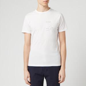 Officine Generale Men's Study 01 Print T-Shirt - White/Klein