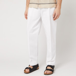 Officine Generale Men's Luigi Pleated Chinos - Optical White