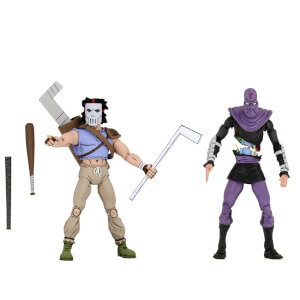 NECA Teenage Mutant Ninja Turtles Cartoon Series Casey Jones and Foot Soldier 2 Pack