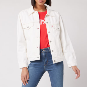 Levi's Women's Ex-Boyfriend Trucker Jacket - White Cell