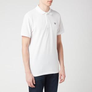 True Religion Men's Gold Lurex Polo Shirt - White