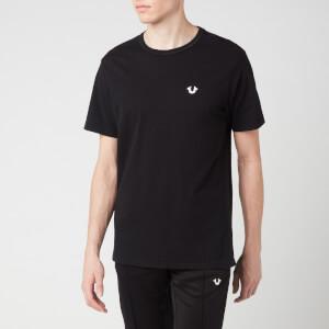 True Religion Men's Seasonal Buddha Crew Neck Short Sleeve T-Shirt - Black