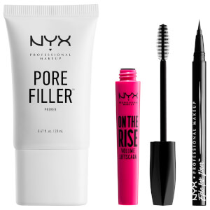 NYX Professional Makeup Vegan Essentials - Porefiller, Eye Liner and Mascara - Exclusive