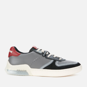 Coach Men's Colourblock Tech Court Trainers - Washed Steel Black