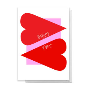 Happy V Day Large Red Heart Greetings Card