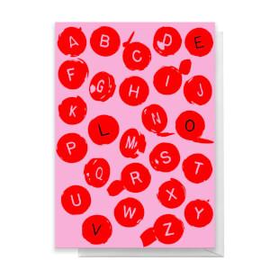 Love Alphabet Greetings Card