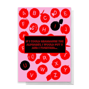 Rearrange The Alphabet Greetings Card