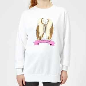 Without You I'd Be Owl By Myself Women's Sweatshirt - White