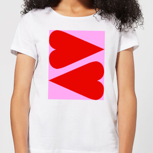 Giant Red Hearts Women's T-Shirt - White