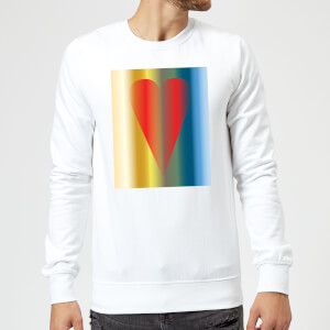 Art Heart Sweatshirt - White